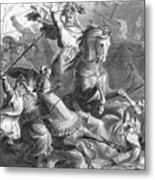 Charles Martel, Battle Of Tours, 732 Metal Print by Photo Researchers