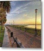 Charleston Sc Waterfront Park Sunrise  Metal Print by Dustin K Ryan
