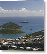 Charlotte Amalie From Above Metal Print by Gary Lobdell