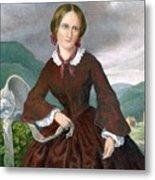 Charlotte Bronte 1816-1855 English Metal Print by Everett