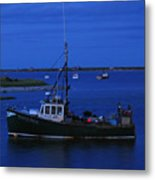 Chatham Pier Fisherman Boat  Metal Print by Juergen Roth