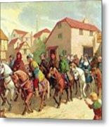 Chaucer's Pilgrims Metal Print by van der Syde