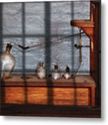 Chemist - The Science Experiment Metal Print by Mike Savad