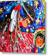 Cherokee Trail Of Tears Mother And Child Metal Print by Laura  Grisham