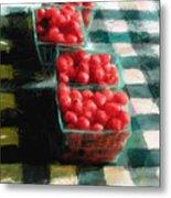 Cherry Tomato Basket Metal Print by RG McMahon