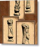 Chess Pieces Metal Print by Tom Mc Nemar