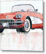 Chevrolet Corvette C1 1960  Metal Print by Yuriy  Shevchuk