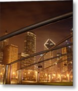 Chicago At Night Metal Print by Andreas Freund