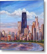 Chicago Skyline - John Hancock Tower Metal Print by Jeff Pittman