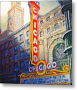 Chicago Theater Metal Print by Michael Durst