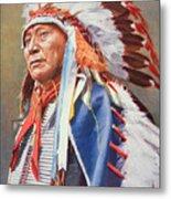 Chief Hollow Horn Bear Metal Print by American School