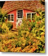 Children - The Children's Cottage Metal Print by Mike Savad
