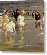 Children On The Beach Metal Print by Edward Henry Potthast