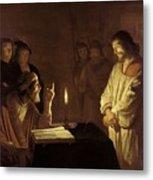 Christ Before The High Priest Metal Print by Gerrit van Honthorst