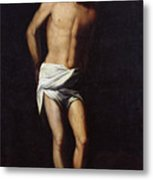Christ Bound To The Column Metal Print by Alonso Cano