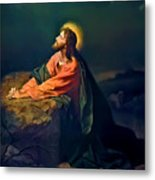 Christ In Garden Of Gethsemane Metal Print by Heinrich Hofmann