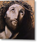 Christ With Crown Of Thorns Metal Print by Laura Ury