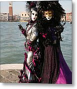 Christine And Gunilla Across St. Mark's  Metal Print by Donna Corless