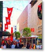 Christmas At Macys In San Francisco . Photoart Metal Print by Wingsdomain Art and Photography