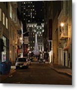 Christmas Eve 2009 On Maiden Lane Metal Print by Wingsdomain Art and Photography