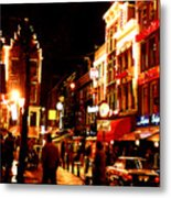 Christmas In Amsterdam Metal Print by Nancy Mueller