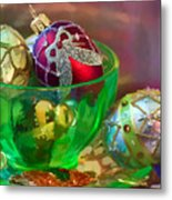 Christmas Ornaments Metal Print by June Marie Sobrito