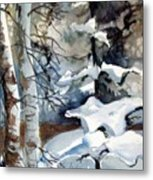 Christmas Trees Metal Print by Mindy Newman