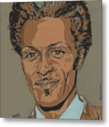 Chuck Berry - Brown-eyed Handsome Man  Metal Print by Suzanne Gee