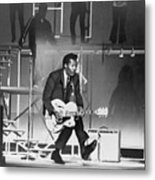 Chuck Berry B. 1926 On Stage, Playing Metal Print by Everett