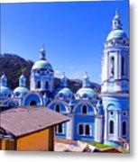 Church In Banos Ecuador Metal Print by Al Bourassa