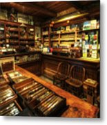 Cigar Shop Metal Print by Yhun Suarez