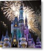 Cinderella Castle Spectacular Metal Print by Charles  Ridgway
