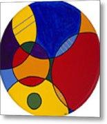 Circles Abstract 1 Metal Print by Patty Vicknair