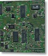 Circuit Board I Metal Print by David Paul Murray