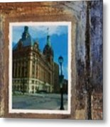 City Hall And Street Lamp Metal Print by Anita Burgermeister