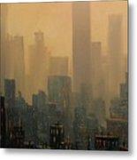 City Haze Metal Print by Tom Shropshire