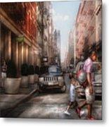 City - Ny - Walking Down Mercer Street Metal Print by Mike Savad