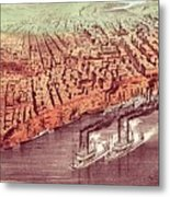 City Of New Orleans Metal Print by Currier and Ives