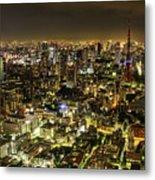 Cityscape At Night Metal Print by Agustin Rafael C. Reyes