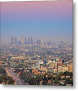 Cityscape Of Los Angeles Metal Print by Eric Lo