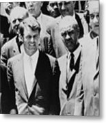Civil Rights Leaders L To R Martin Metal Print by Everett
