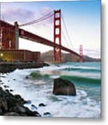 Classic Golden Gate Bridge Metal Print by Photo by Alex Zyuzikov