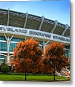 Cleveland Browns Stadium Metal Print by Kenneth Krolikowski