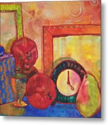 Clock Work Metal Print by Blenda Studio