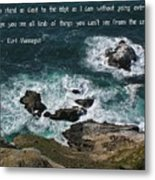 Close To The Edge Metal Print by Jen White