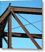 Close Up Bridge Metal Print by Marsha Heiken