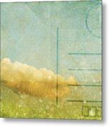 Cloud And Sky On Postcard Metal Print by Setsiri Silapasuwanchai
