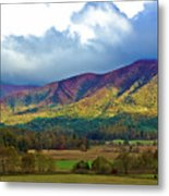 Cloud Covered Peaks Metal Print by DigiArt Diaries by Vicky B Fuller