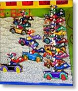 Clown Car Racing Game Metal Print by Garry Gay