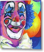 Clown With Balloons Metal Print by Stephen Anderson